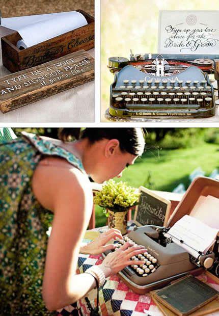 Una antigua máquina de escribir...