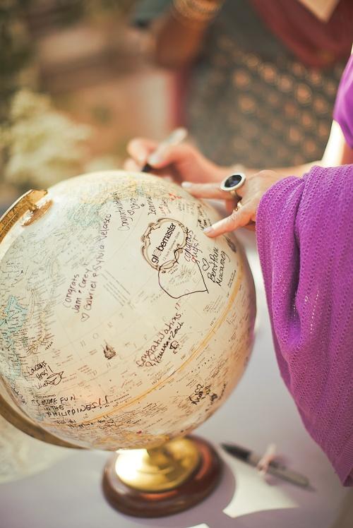 Una bola del mundo que nos invite a viajar...