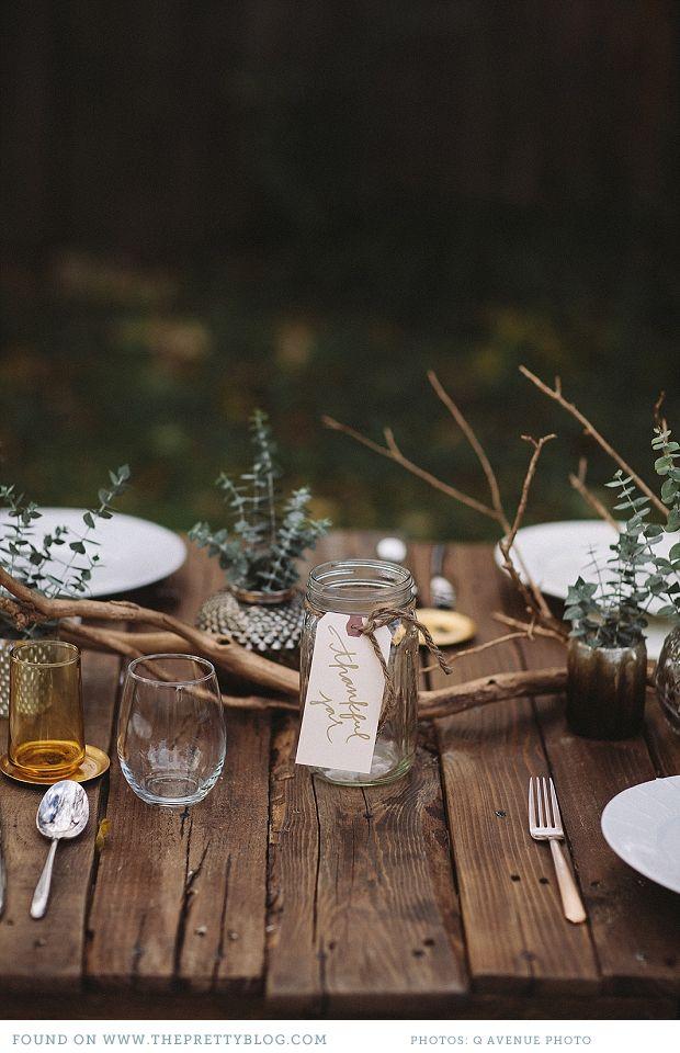 mesa boda otoño